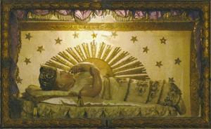 statua di maria bambina della chiesa san sito genova